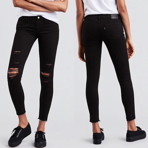 63797330c4c Levi s 710 Super Skinny Jeans in Atomic Black